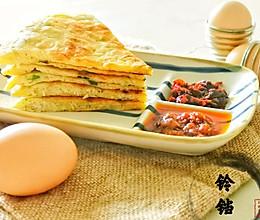 #全电厨王料理挑战赛热力开战!#金针菇鸡蛋饼的做法