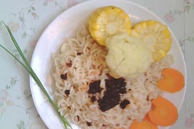 懒人早餐-蔬菜盖面