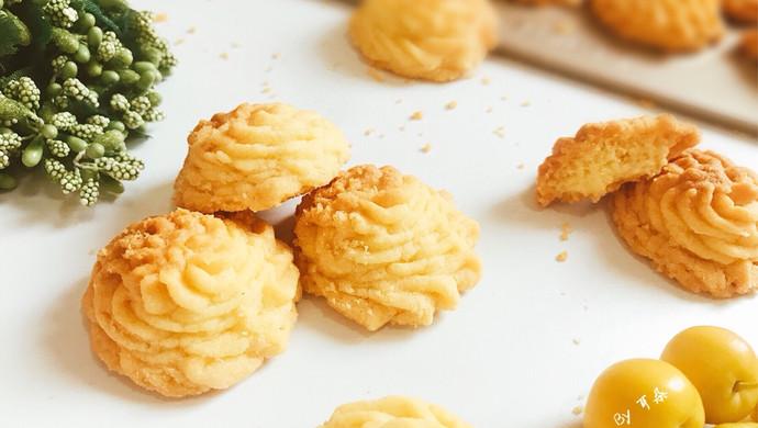 酥到掉渣的黄油曲奇饼干 网红菊花挤花款