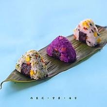 彩色日式饭团,变着法让孩子吃饭