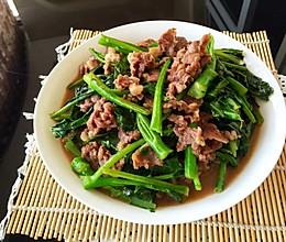 芥兰炒牛肉/牛肉芥兰炒饭的做法