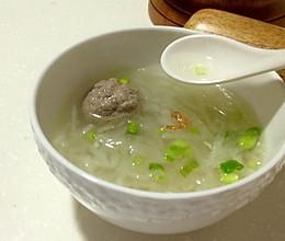 白萝卜丝牛肉丸汤的做法