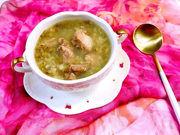 清热解毒的排骨绿豆汤的做法