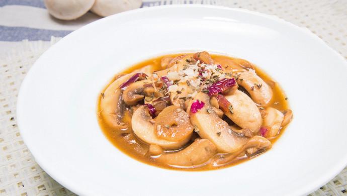 黄油口蘑,简单好味的一道西餐美食