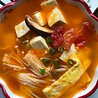 番茄菌菇豆腐汤,减脂瘦身#做道好菜,自我宠爱!#的做法图解4