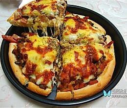 香肠菌菇披萨的做法