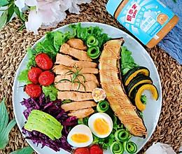 #四季宝蓝小罐#牛油果鸡肉焦糖烤香蕉brunch的做法