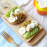 水果雞蛋肉松開放式三明治早餐的做法圖解8