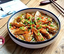 #硬核菜谱制作人# 蒸鸡翅金针菇的做法