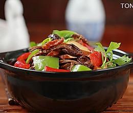 干锅茶树菇香干的做法