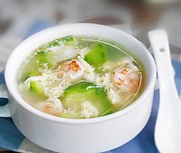 虾仁鸭蛋丝瓜汤--养阴清肺,益气消暑的做法