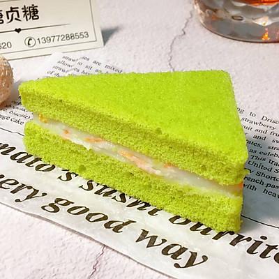 宝宝零食系列~菠菜山药三明治