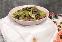 家乡的味道——香肠炒莴笋的做法