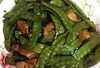 荷兰豆炒肉的做法