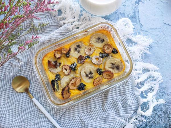 轻食早餐:香蕉烤燕麦的做法