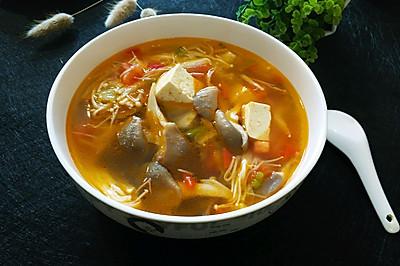 双菇番茄豆腐汤