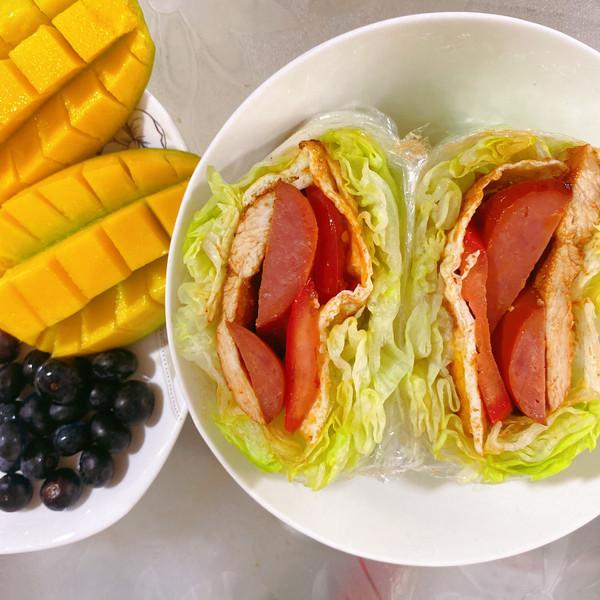 零碳水蔬菜三明治的做法