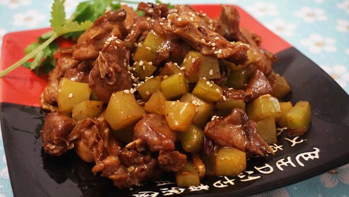 干锅青笋兔肉