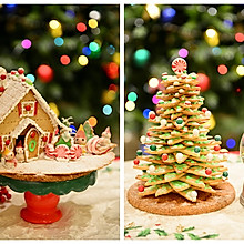 童话世界-圣诞姜饼屋和圣诞树