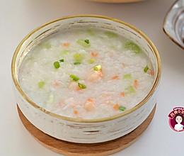 #快手又营养,我的冬日必备菜# 大虾蔬菜砂锅粥的做法