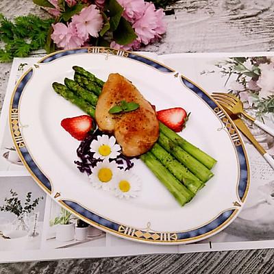 西餐–芦笋烤鸡胸