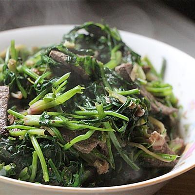 菠菜炒猪肝——补钙补血补铁