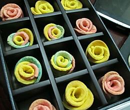 三彩玫瑰花饼干的做法