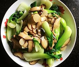 香菇炒上海青的做法