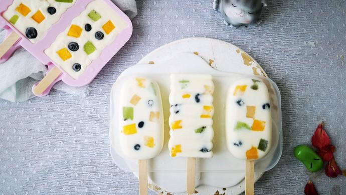 不打蛋没冰渣的酸奶水果冰激淋