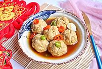 #钟于经典传统味#清蒸肉末豆腐丸子的做法