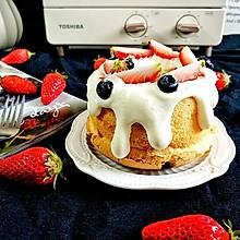 #餐桌上的春日限定#奶油草莓蛋糕,小烤箱烤出春天的暖意甜蜜