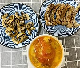 黑胡椒排骨、跟黑胡椒蘑菇的做法