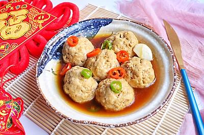 清蒸肉末豆腐丸子