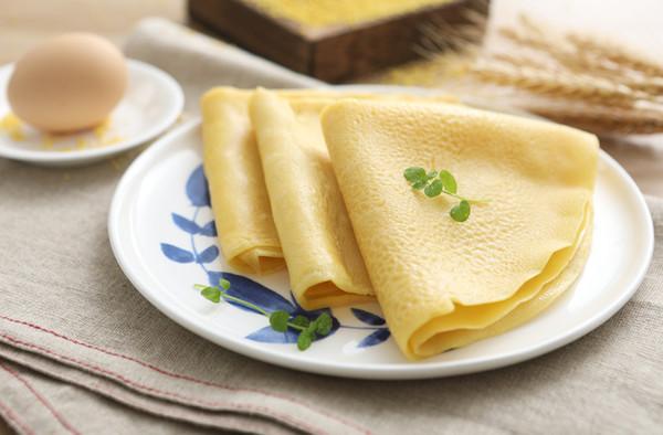 小米鸡蛋饼的做法