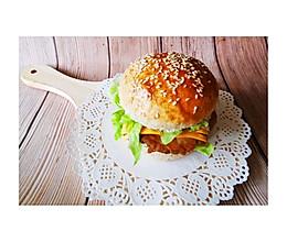 全麦劲脆鸡排堡,自制全麦汉堡胚,劲脆炸鸡排,超级满足美味!的做法