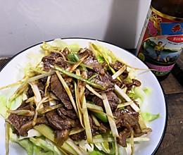 #李锦记旧庄蚝油鲜蚝鲜煮#拌牛肉的做法
