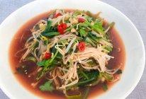 #少盐饮食 轻松生活#开胃凉拌菠菜金针菇的做法