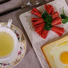 孕妇瘦身美食——爆浆鸡蛋吐司配章鱼香肠