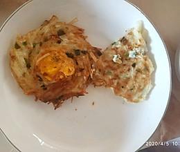 鸟巢(其实是土豆丝鸡蛋)的做法