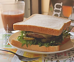 牛肉饼三明治#换着花样吃早餐#的做法