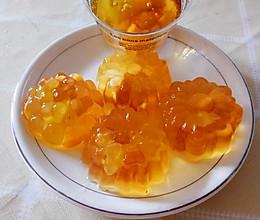 橙汁蜂蜜、菊花薄荷果冻的做法