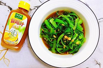 鲜鸡汁油菜苗