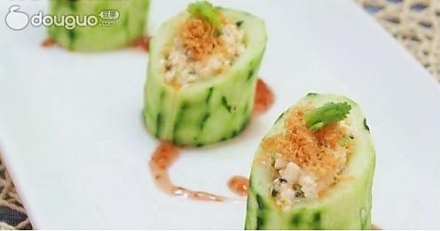 夏季凉拌菜——豆腐酿青瓜的做法