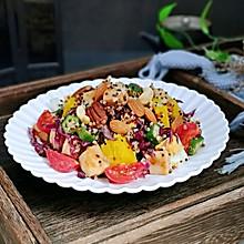 #520,美食撩动TA的心!#藜麦时蔬鸡胸沙拉