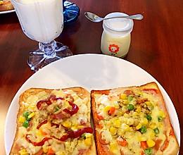 早餐吐司披萨(超简单)的做法