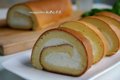 奶油戚风蛋糕卷#豆果5周年#