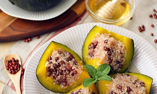 红豆糯糯南瓜盅#发现粗食之美#的做法