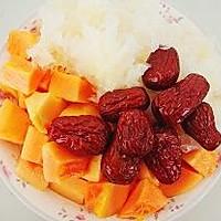 红枣木瓜银耳汤的做法图解1