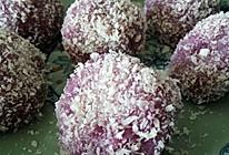 紫薯糯米糍粑的做法