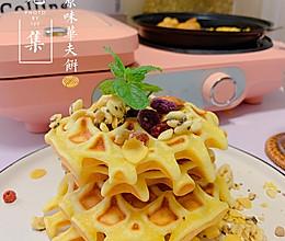 早餐三明治早餐机|原味华夫饼➕煎香肠鸡蛋花的做法